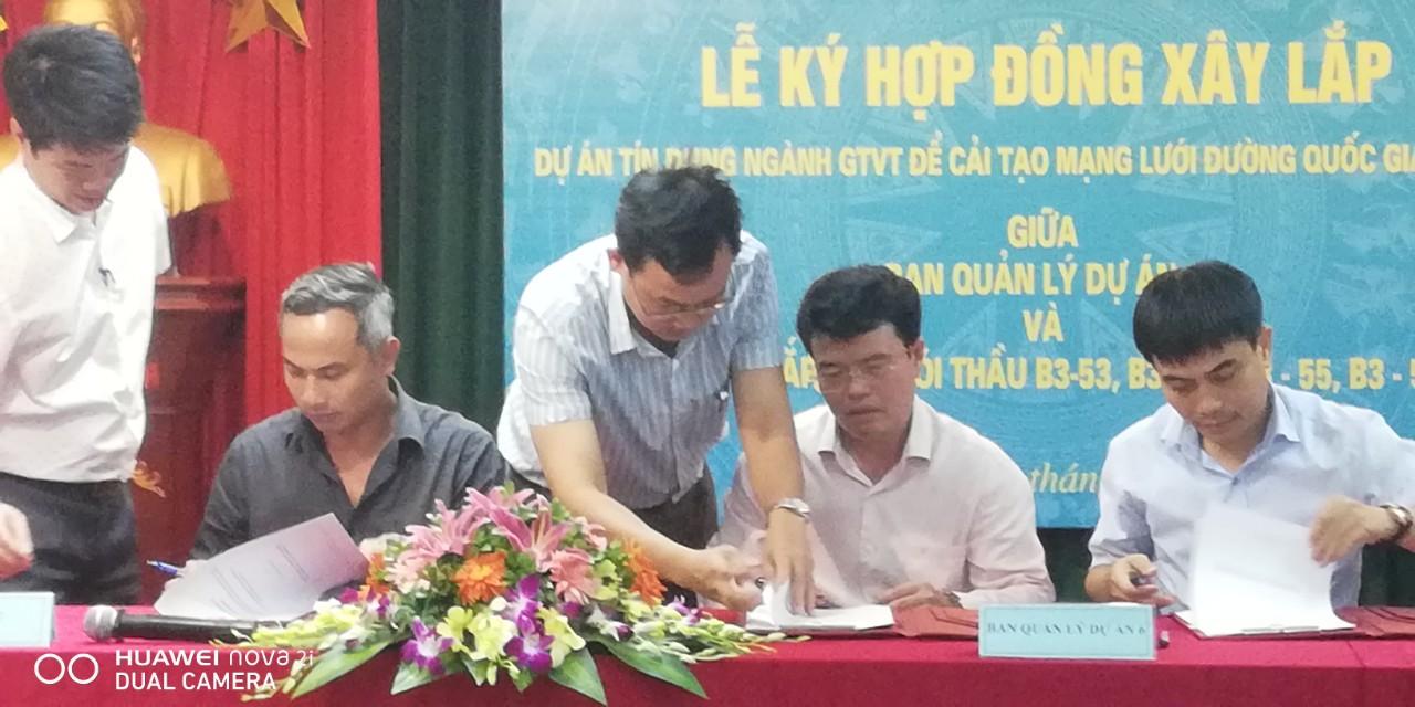 Công Ty Đông Hưng ký kết Ban 6 bộ giao thông vận tải